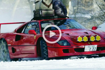 video ferrari f40 nieve