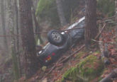 porsche 924 robado accidentado bosque