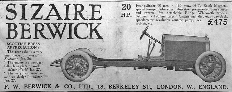 sizaire berwick 1915 wind wagon blindado worst weapons